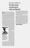 Corriere del Mezzogiorno - Convegno al Quisisana<br />E Capri torna a interrogarsi sulla sua identit�