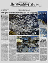 In Capri, love of nature and lust for shopping