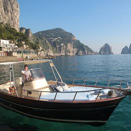 Capri Blue Boats - Half Day around Capri with typical gozzo.